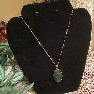 Necklace 12k Gold & JADE
